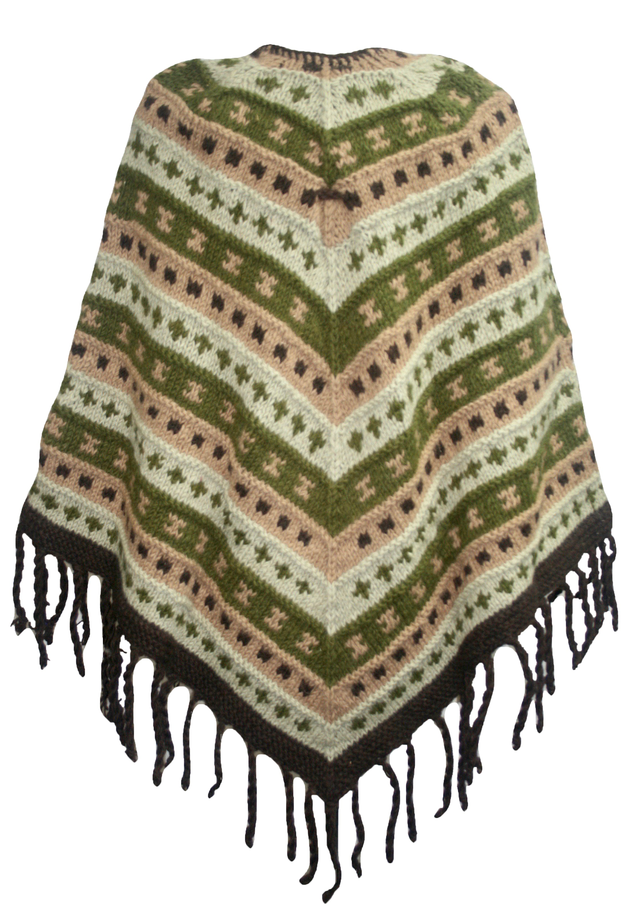 PN 200 Himalayan Thick Sheep Wool Hand Knitted Poncho - Agan Traders, PN 200 14