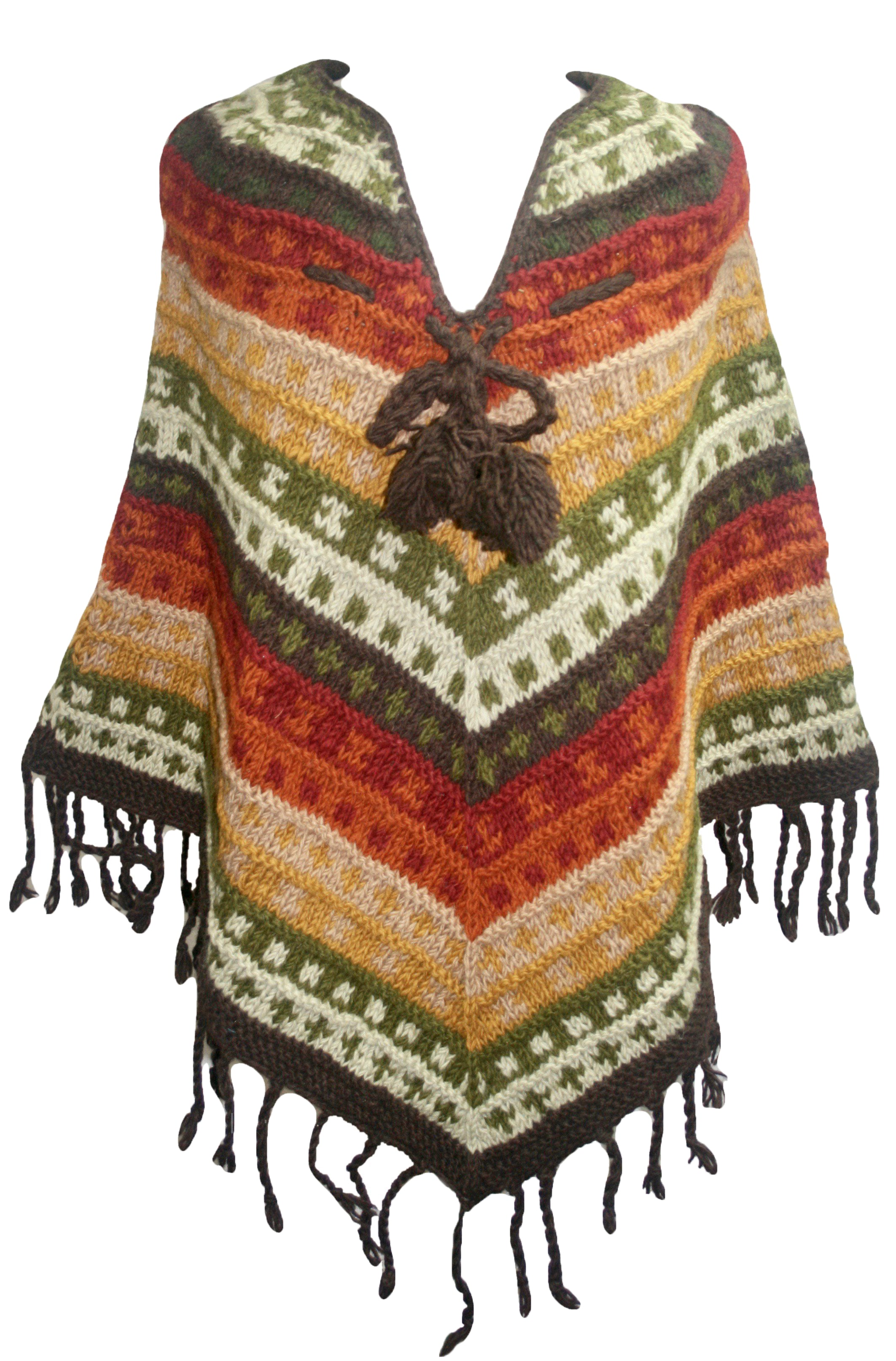 PN 200 Himalayan Thick Sheep Wool Hand Knitted Poncho - Agan Traders, PN 200 16