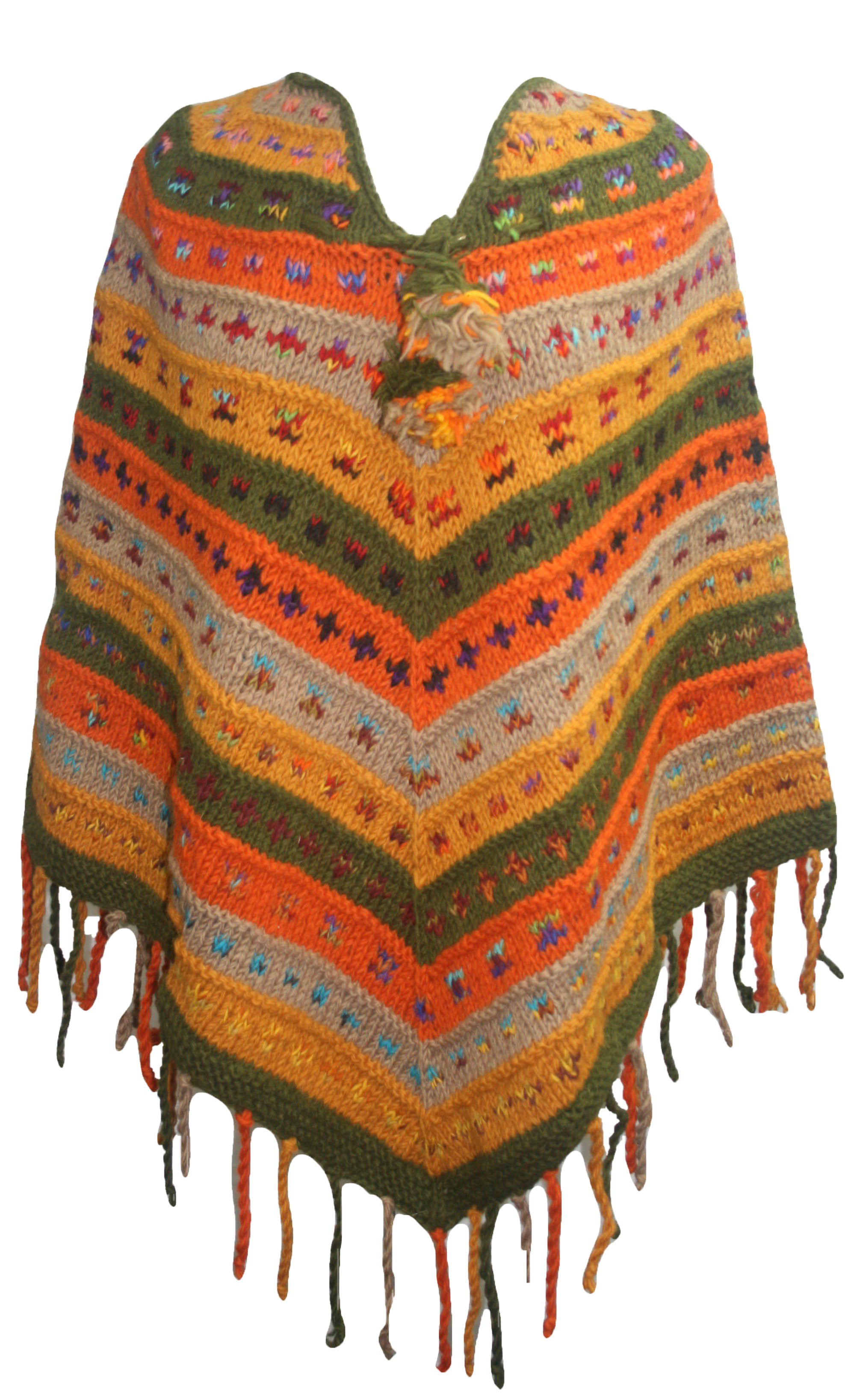 PN 200 Himalayan Thick Sheep Wool Hand Knitted Poncho - Agan Traders, PN 200 18