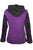 Funky Knit Cotton Bohemian Fleece Multi-colored Hoodie Jacket - Agan Traders, Purple Black
