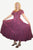 Rayon Embroidered Flare Gothic Corset Dazzling Dress Gown - Agan Traders, Burgundy
