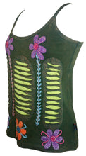 R 131 Agan Traders Rib Cotton Patch Razor Cut Embroidered Yoga Tank Top - Agan Traders, Olive