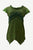 R 304 B Knit Cotton Round Neck Gauzy Lace Embroidered Cap Sleeve Tunic Blouse - Agan Traders, Green