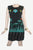 RD 16 Agan Traders Nepal Bohemian Gypsy Knit Cotton Knee Length Summer Dress - Agan Traders, Green Black