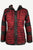 Funky Knit Cotton Bohemian Fleece Hoodie Jacket - Agan Traders, Red Black