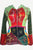 Tie Dye Patchwork Embroidered Floral Hoodie Sweatshirt - Agan Traders, Red Multi
