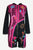 RJ 324 Agan Traders Patch Embroidered Funky Boho Long Jacket - Agan Traders, Pink