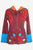 R 343 Agan Traders Rib Cotto Elf Hoodie Floral Embroidered Bohemian Jacket - Agan Traders, Maroon Multi