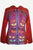 RJ 345 Agan Traders Nepal Razor Cut Patched Bohemian Hoodie Jacket - Agan Traders, Red Purple
