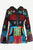 Funky Ribbed Cotton Multi-colored Patched Razor Cut Bohemian Jacket - Agan Traders, Black Denim