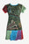 Knit Viscose Razor Cut Embroidered Light Weight Summer Short Baby Doll Dress - Agan Traders, Black Multi