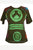 Rib Cotton Peace Symbol Top T-shirt Blouse - Agan Traders, Olive Green