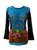 Embroidery Razor Cut Cotton Tie Dye Bohemian Top Blouse - Agan Traders, Multicolor