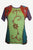 Rib Cotton Funky Razor Cut Embroidery Handcrafted Top Blouse - Agan Traders, Green