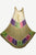Rayon Tie Dye Beach Umbrella Long Dress - Agan Traders, Beige Olive