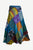 WS 411 Women's Hippie Long Wrap Patch Cotton Boho Renaissance Skirt Maxi - Agan Traders, Turquoise