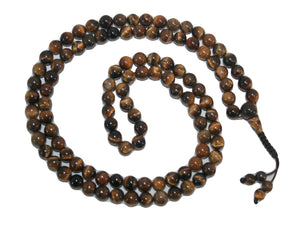 Agan Traders Original Tibetan Buddhist 108 Beads Prayer Meditation Mala - Agan Traders, Tigers Eye