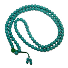 Agan Traders Original Tibetan Buddhist 108 Beads Prayer Meditation Mala - Agan Traders, Turquoise