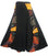 Long Gypsy Patch Rib Cotton Bohemian Wrapper Skirt - Agan Traders, Black
