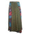 Long Gypsy Patch Rib Cotton Bohemian Wrapper Skirt - Agan Traders, Green