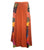 Long Gypsy Patch Rib Cotton Bohemian Wrapper Skirt - Agan Traders, Rust