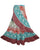 14 WS Women's Distressed Cotton Boho Chic Broom Wrap Skirt Maxi - Agan Traders; Multi 2