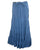 15 WS Women's Rayon Boho Chic Broom Mopping Ruffle Tier Wrap Skirt Maxi - Agan Traders; Blue