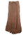 15 WS Women's Rayon Boho Chic Broom Mopping Ruffle Tier Wrap Skirt Maxi - Agan Traders; Brown