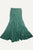 15 WS Women's Rayon Boho Chic Broom Mopping Ruffle Tier Wrap Skirt Maxi - Agan Traders; Green