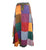 409 Hippie Gypsy Summer Long Wrap Patch Razor Cut Cotton Boho Skirt - Agan Traders, Multi 1