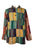 Cotton Patchwork Mandarin Style Light Weight Tunic Shirt Nepal - Agan Traders, Yellow Multi