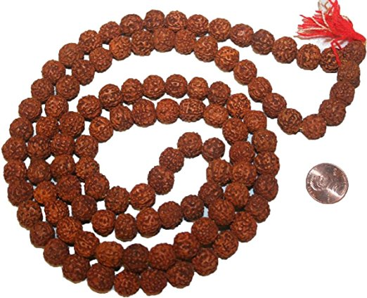 10 mm Rudraksha Buddhist Beads Meditation Mala - Agan Traders, RK 12mm