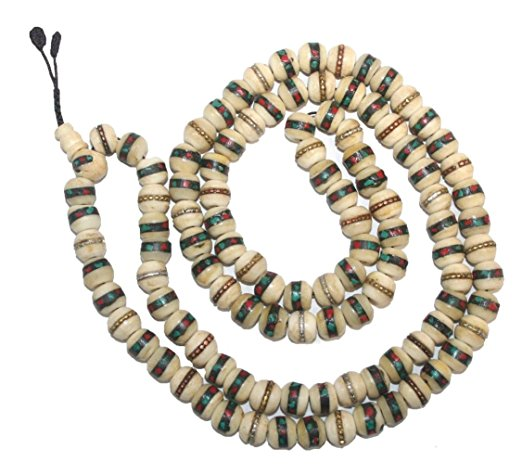 Tibetan Buddhist 108 Bead Prayer Meditation Wrist Necklace Mala - Agan Traders, TQ 10mm
