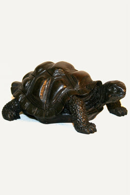 New Handmade Large Black Resin Turtle Black