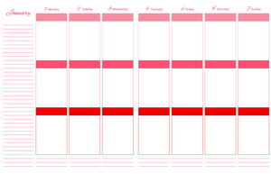 DAILY LIFE PLANNER – DAILY AND MONTHLY PAGES
