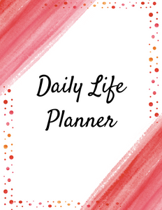 DAILY LIFE PLANNER – COVER, SPINE, DIVIDERS