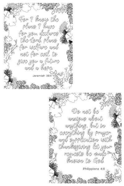 Bible Coloring Pages Set of 5 - Peace