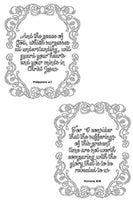 Bible Coloring Pages Set of 5 - Strength