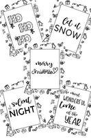 christmas coloring pages set of 5