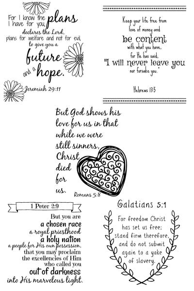 Wall Art - Scripture Verses Set - Encouragement
