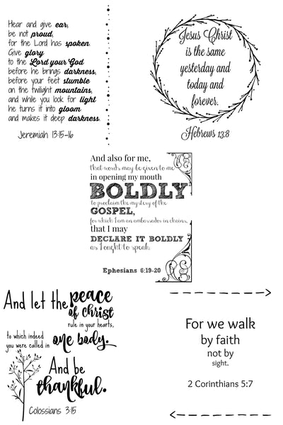 Wall Art - Scripture Verses Set - Faithfulness
