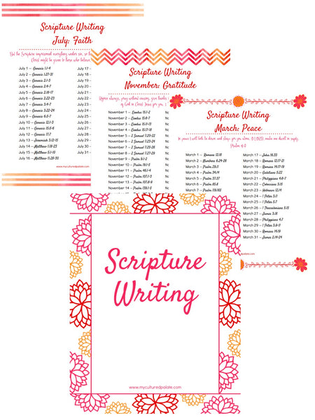 Scripture Writing Prompts - Volume 1 Binder (43 pages)