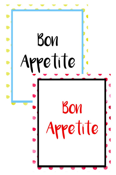 Bon Appetite Wall Art Set