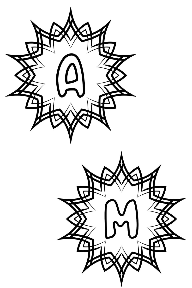 Alphabet coloring pages a to z