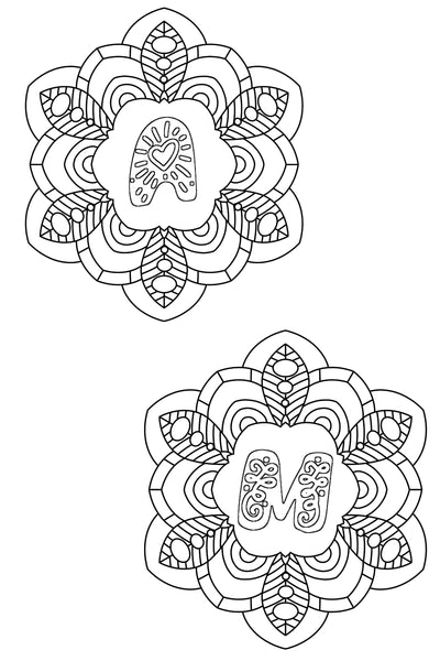 Monogram Designs to Color