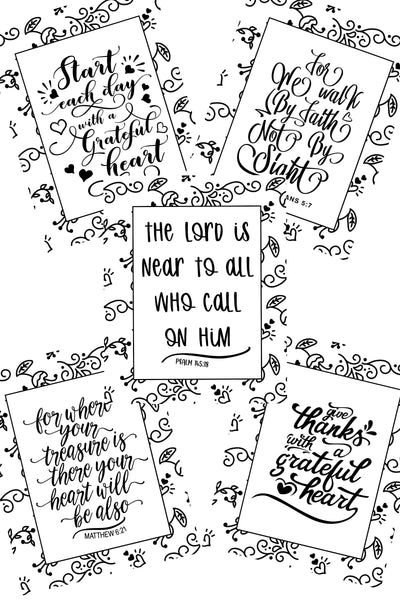 Encouraging Coloring Pages - Set of 5