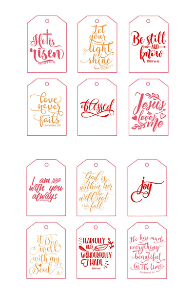 Inspirational Printable Gift Tags