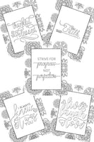 Living Love Coloring Pages - set of 5