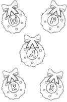Christmas Wall Decor - Printable Coloring Sheets - Monograms