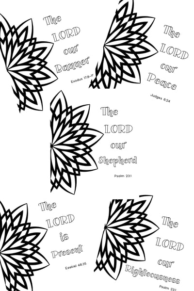 """The Lord Is..."" Coloring Pages - Set of 5"